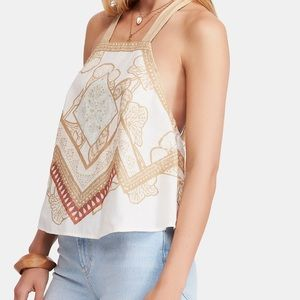 Free people cool cabana cotton tank top